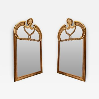Pair of Monumental and Rare Neoclassic Mirrors