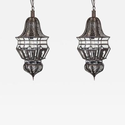 Pair of Moroccan Moorish Hanging Pendant Lights
