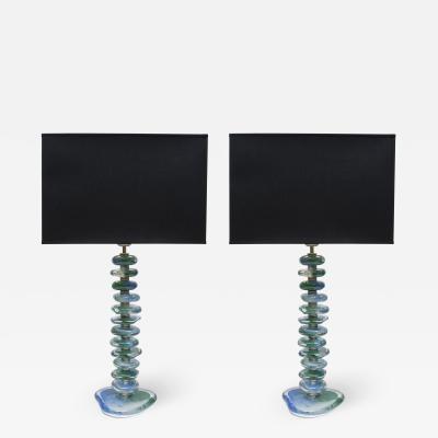 Pair of Murano Glass Lamps by Juanluca Fontana