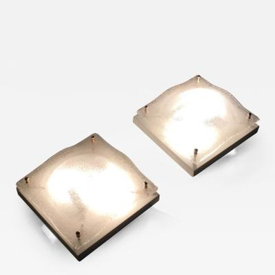 Pair of Murano Glass Sconces Italy 1970s