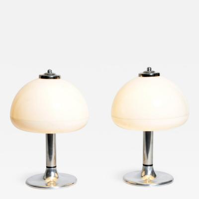 Pair of Mushroom Shaped Table Lamps