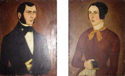 Pair of N Y portraits