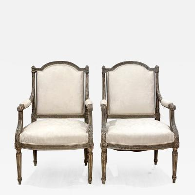 Pair of Napoleon III Armchairs France Circa 1850
