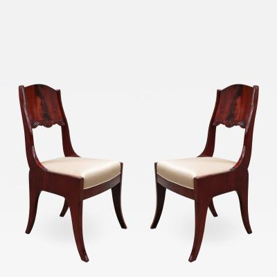 Pair of Neoclassical Side Chairs