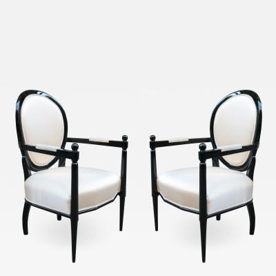 Pair of Neoclassically inspired Armchairs