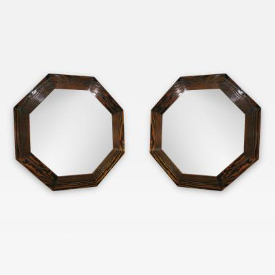 Pair of Octagon Mirrors Inspired by Eileen Grey