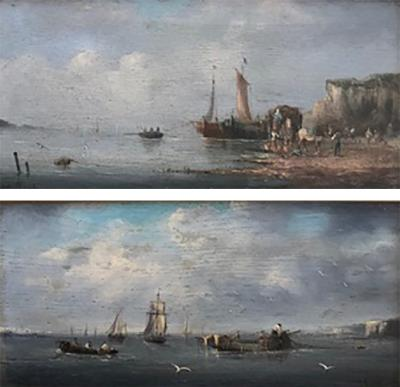 Pair of Oil Seascapes