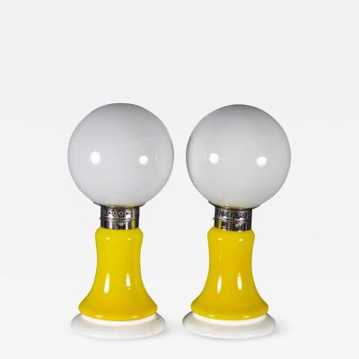 Pair of Original Mazzega Table Lamps 1960