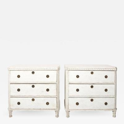 Pair of Painted Gustavian Chest of Drawers