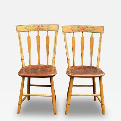 Pair of Painted Side Chairs circa 1830