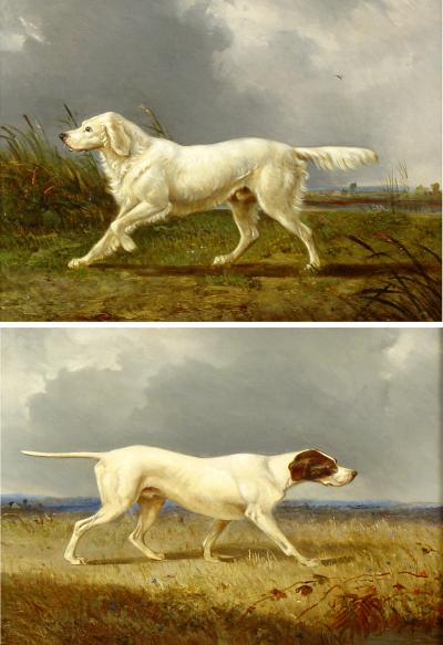 Pair of Paintings English School 19th Century