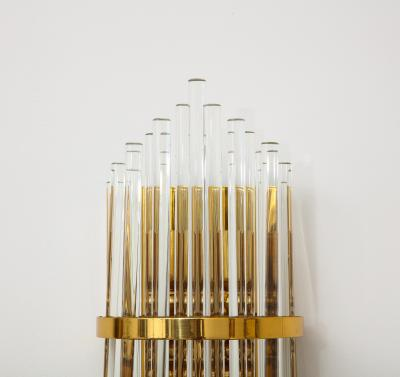 Pair of Palwa Wall Sconces with Thick Crystal Rods