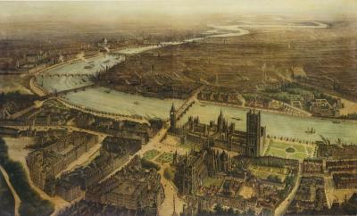 Pair of Panoramic Views of Westminster