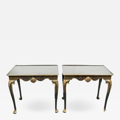 Pair of Parcel Gilt Chinoiserie Side Tables