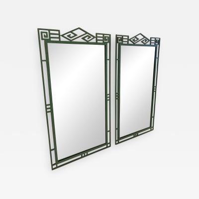 Pair of Patinated Iron Mirrors
