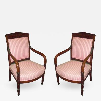 Pair of Period Restoration Armchairs