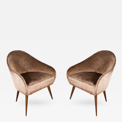 Pair of Petite Stylized Armchairs
