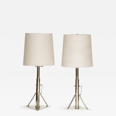 Pair of Plated Jack Lamps