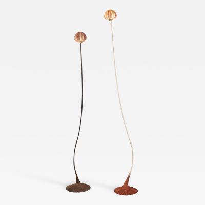 Pair of Poetic Sea Urchin Floor Lamps by Nicolas Cesbron 2019