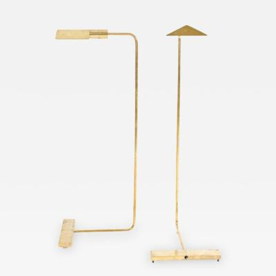 Pair of Polished Brass Reading Lamps by Cedric Hartman
