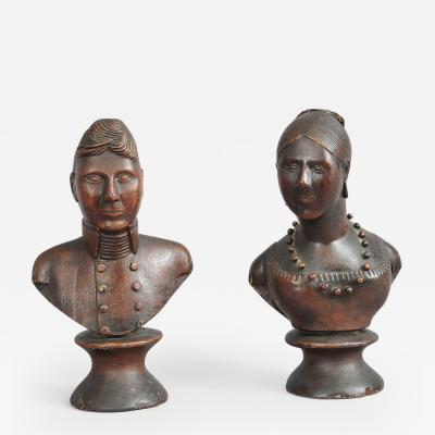 Pair of Portrait Busts