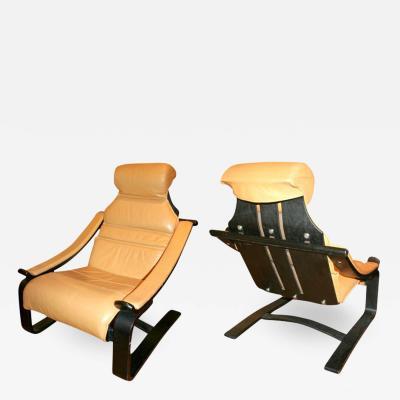 Pair of Postmodern Armchairs