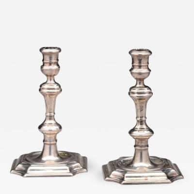Pair of Queen Anne Silver Candlesticks