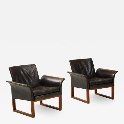 Pair of Rare 1950s Swedish Club Chairs