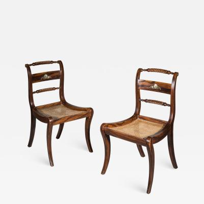 Pair of Regency Faux Painted Klismos Chairs