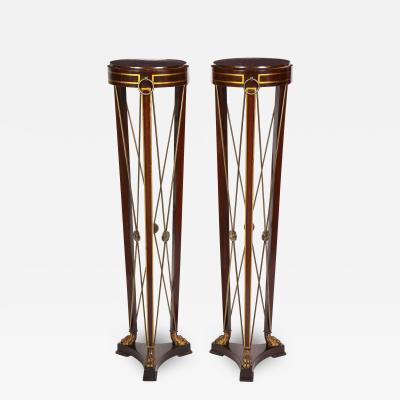 Pair of Regency Style Mahogany Pedestals by Grosfeld House