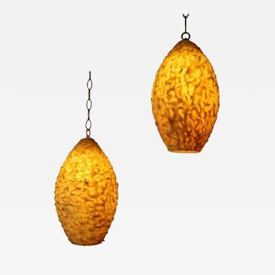 Pair of Resin Pendant Lights