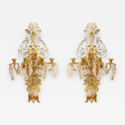 Pair of Rock Crystal Sconces