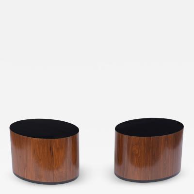 Pair of Rosewood Pedestal Tables