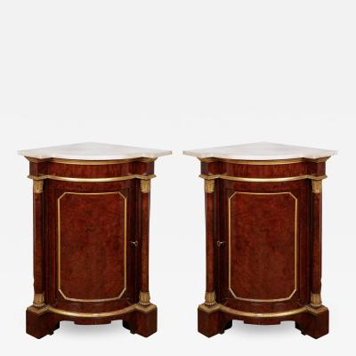 Pair of Royal antique corner cabinets from Windsor Castle