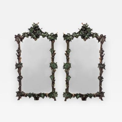Pair of Rustic Continental Vertical Wall Mirrors