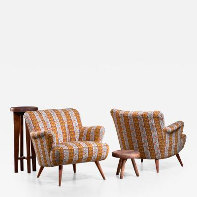 Pair of Scandinavian Modern armchairs