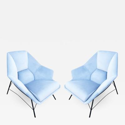 Pair of Sculptural Italian Lounge Chairs 1960s