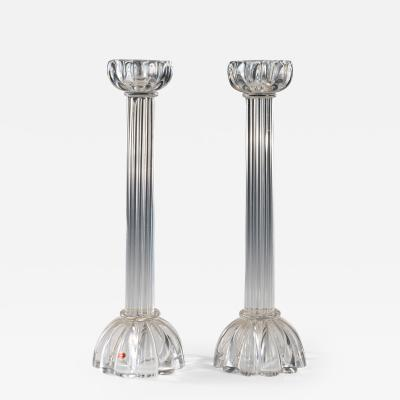 Pair of Seguso candlesticks 2 by John Loring of Tiffany co