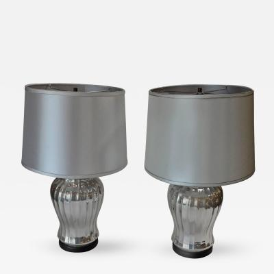 Pair of Silver Mercury Glass Table Lamps