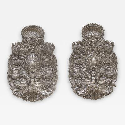 Pair of Silver Sconces