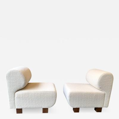 Pair of Slipper Chairs P Italy 1970s