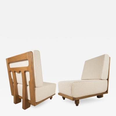 Pair of Slipper Chairs by Guillerme Chambron France c 1950
