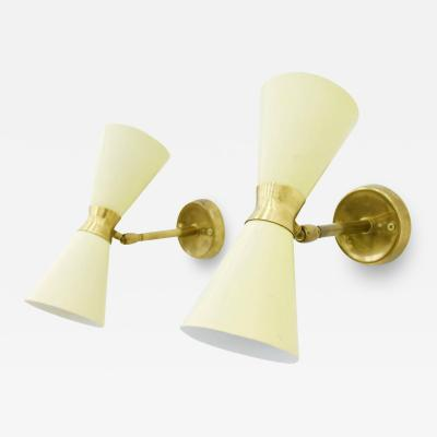 Pair of Small Diabolo Wall Sconces 1950s