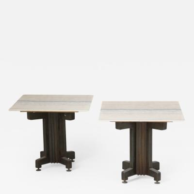 Pair of Small Tables with Onyx Tops