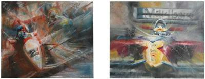 Pair of Solaris Formula 1 Paintings
