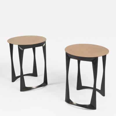 Pair of Solid Bronze Side Tables France 2017