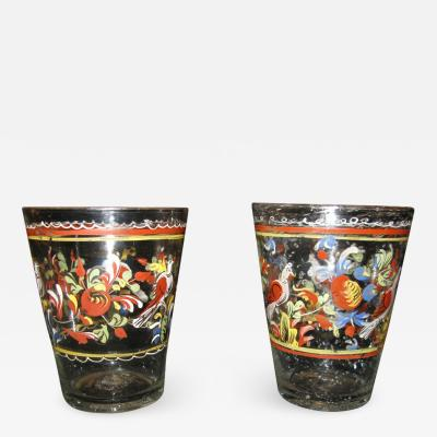 Pair of Spanish Glass Tumblers