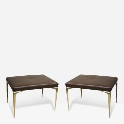 Pair of Spear Tip Brass Benches