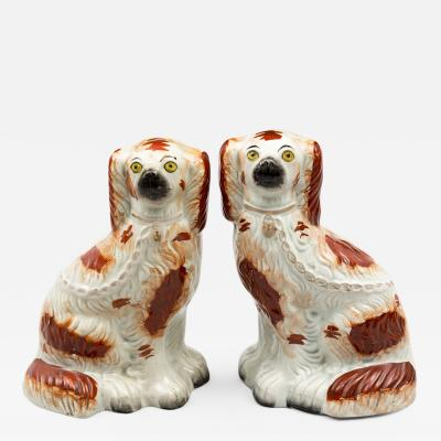 Pair of Stafforshire Dogs Circa 1870