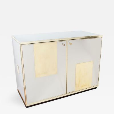 Pair of Stainless Steel and Brass Chests